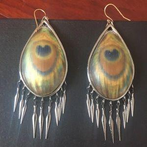 Stunning Alexis Bittar peacock earrings